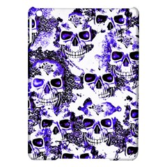 Cloudy Skulls White Blue Ipad Air Hardshell Cases by MoreColorsinLife