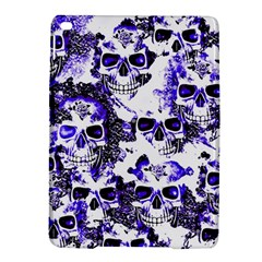 Cloudy Skulls White Blue Ipad Air 2 Hardshell Cases by MoreColorsinLife