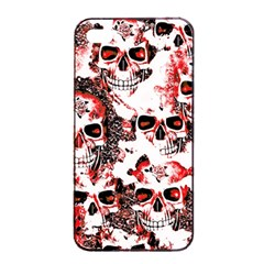 Cloudy Skulls White Red Apple Iphone 4/4s Seamless Case (black) by MoreColorsinLife