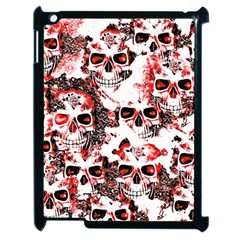 Cloudy Skulls White Red Apple Ipad 2 Case (black) by MoreColorsinLife