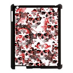 Cloudy Skulls White Red Apple Ipad 3/4 Case (black)