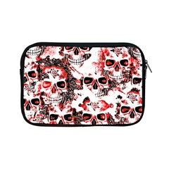 Cloudy Skulls White Red Apple Ipad Mini Zipper Cases by MoreColorsinLife