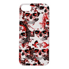 Cloudy Skulls White Red Apple Iphone 5s/ Se Hardshell Case by MoreColorsinLife