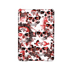 Cloudy Skulls White Red Ipad Mini 2 Hardshell Cases by MoreColorsinLife