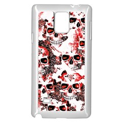 Cloudy Skulls White Red Samsung Galaxy Note 4 Case (white) by MoreColorsinLife