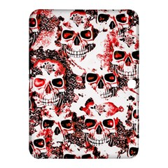 Cloudy Skulls White Red Samsung Galaxy Tab 4 (10 1 ) Hardshell Case  by MoreColorsinLife