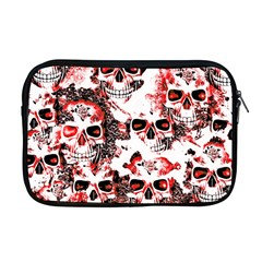 Cloudy Skulls White Red Apple Macbook Pro 17  Zipper Case by MoreColorsinLife