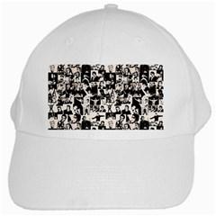Elvis Presley Pattern White Cap by Valentinaart