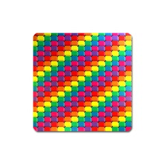 Colorful 3d Rectangles           Magnet (square) by LalyLauraFLM