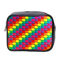 Colorful 3d Rectangles           Mini Toiletries Bag (two Sides) by LalyLauraFLM