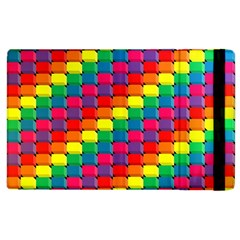 Colorful 3d rectangles     Kindle Fire (1st Gen) Flip Case by LalyLauraFLM