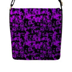 Elvis Presley Pattern Flap Messenger Bag (l)  by Valentinaart