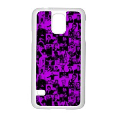 Elvis Presley Pattern Samsung Galaxy S5 Case (white) by Valentinaart