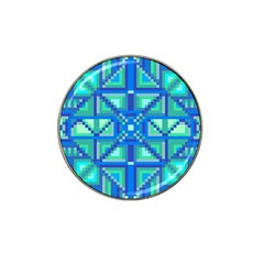 Grid Geometric Pattern Colorful Hat Clip Ball Marker (4 Pack) by Nexatart