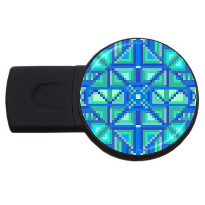 Grid Geometric Pattern Colorful USB Flash Drive Round (4 GB)