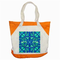 Grid Geometric Pattern Colorful Accent Tote Bag by Nexatart