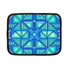 Grid Geometric Pattern Colorful Netbook Case (small)  by Nexatart