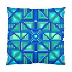 Grid Geometric Pattern Colorful Standard Cushion Case (one Side) by Nexatart