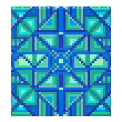 Grid Geometric Pattern Colorful Shower Curtain 66  X 72  (large)