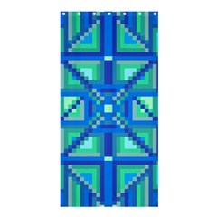 Grid Geometric Pattern Colorful Shower Curtain 36  X 72  (stall)  by Nexatart