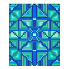 Grid Geometric Pattern Colorful Shower Curtain 60  X 72  (medium)  by Nexatart
