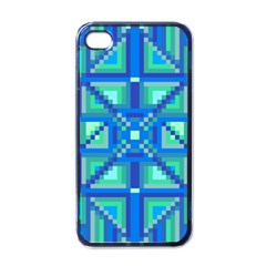 Grid Geometric Pattern Colorful Apple Iphone 4 Case (black) by Nexatart