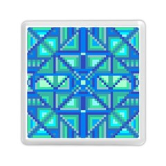 Grid Geometric Pattern Colorful Memory Card Reader (square)  by Nexatart