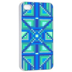 Grid Geometric Pattern Colorful Apple Iphone 4/4s Seamless Case (white) by Nexatart