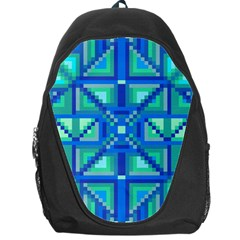 Grid Geometric Pattern Colorful Backpack Bag
