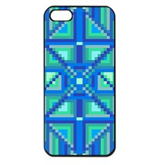 Grid Geometric Pattern Colorful Apple Iphone 5 Seamless Case (black) by Nexatart