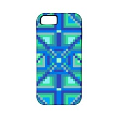 Grid Geometric Pattern Colorful Apple Iphone 5 Classic Hardshell Case (pc+silicone) by Nexatart