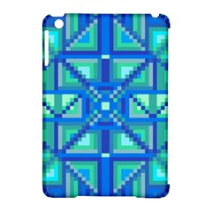 Grid Geometric Pattern Colorful Apple Ipad Mini Hardshell Case (compatible With Smart Cover) by Nexatart
