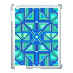 Grid Geometric Pattern Colorful Apple Ipad 3/4 Case (white) by Nexatart
