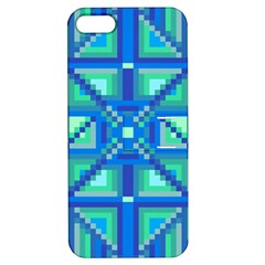 Grid Geometric Pattern Colorful Apple Iphone 5 Hardshell Case With Stand
