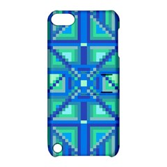 Grid Geometric Pattern Colorful Apple Ipod Touch 5 Hardshell Case With Stand by Nexatart
