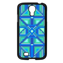 Grid Geometric Pattern Colorful Samsung Galaxy S4 I9500/ I9505 Case (black) by Nexatart