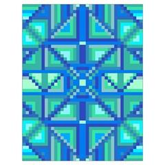 Grid Geometric Pattern Colorful Drawstring Bag (large) by Nexatart
