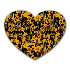 Elvis Presley Pattern Heart Mousepads by Valentinaart