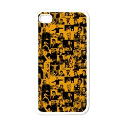 Elvis Presley Pattern Apple Iphone 4 Case (white) by Valentinaart