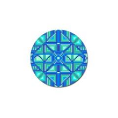 Grid Geometric Pattern Colorful Golf Ball Marker (10 Pack) by Nexatart