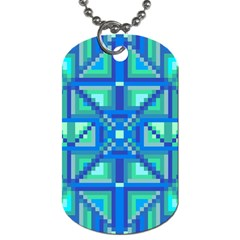 Grid Geometric Pattern Colorful Dog Tag (two Sides)