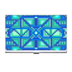 Grid Geometric Pattern Colorful Business Card Holders by Nexatart