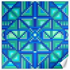Grid Geometric Pattern Colorful Canvas 16  X 16   by Nexatart