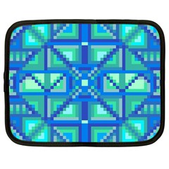 Grid Geometric Pattern Colorful Netbook Case (large) by Nexatart
