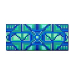 Grid Geometric Pattern Colorful Cosmetic Storage Cases by Nexatart