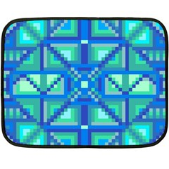 Grid Geometric Pattern Colorful Double Sided Fleece Blanket (mini)  by Nexatart