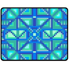 Grid Geometric Pattern Colorful Fleece Blanket (medium)  by Nexatart