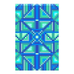 Grid Geometric Pattern Colorful Shower Curtain 48  X 72  (small)  by Nexatart