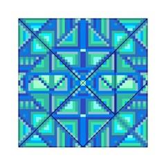 Grid Geometric Pattern Colorful Acrylic Tangram Puzzle (6  X 6 ) by Nexatart