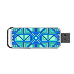 Grid Geometric Pattern Colorful Portable Usb Flash (one Side) by Nexatart